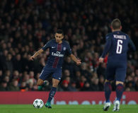 Arsenal FC v Paris Saint-Germain - UEFA Champions League. LONDON, ENGLAND - NOVEMBER 23 2016: During the Champions League match between Arsenal and Paris Saint royalty free stock image