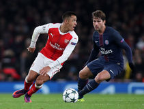 Arsenal FC v Paris Saint-Germain - UEFA Champions League Stock Photo