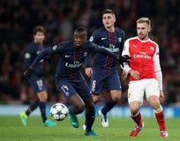 Arsenal FC V Paris St Germain - liga för UEFA-mästare Royaltyfria Foton