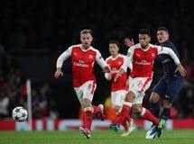Arsenal FC V Paris St Germain - liga för UEFA-mästare Royaltyfri Foto