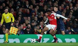 Arsenal FC V Paris St Germain - liga för UEFA-mästare Royaltyfria Bilder