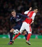 Arsenal FC V Paris St Germain - liga för UEFA-mästare Royaltyfri Fotografi
