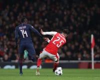 Arsenal FC V Paris St Germain - liga för UEFA-mästare Royaltyfri Bild