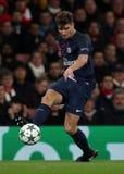 Arsenal FC V Paris St Germain - liga för UEFA-mästare Arkivfoton