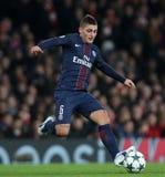 Arsenal FC V Paris St Germain - liga för UEFA-mästare Arkivbild