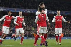 Arsenal FC v Paris St Germain - ligue de champions d'UEFA photographie stock