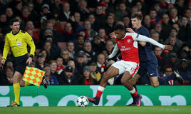 Arsenal FC v Paris St Germain - ligue de champions d'UEFA Images libres de droits