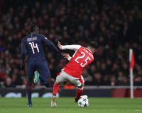 Arsenal FC v Paris St Germain - ligue de champions d'UEFA Image libre de droits
