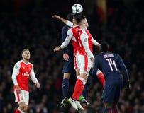Arsenal FC v Paris St Germain - ligue de champions d'UEFA Photographie stock libre de droits