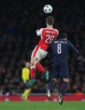 Arsenal FC v Paris St Germain - ligue de champions d'UEFA Image libre de droits