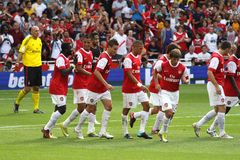 Arsenal goal celebration Stock Photography