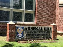 Arsenal Hill Associate Reformed Presbyterian Church located in Columbia, SC.  royalty free stock photos