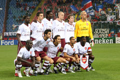 Arsenal London. Team before the Steaua Bucharest -  match, Champions League, 2007 stock image