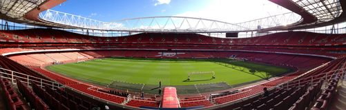 Arsenal london. Emirates stadium white and stock photos