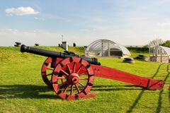 The Arsenal Museum of fortification in Zamosc, Poland. Zamosc, Poland - May 1, 2018: The Arsenal Museum of fortifications and weaponry, a division of Zamosc stock image