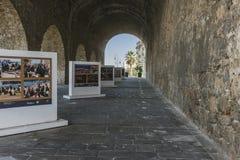 Street in Iraklion. Arsenal remaining and street in Iraklion , Greece, Europe Stock Photos
