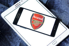 Arsenal soccer club logo Stock Photography