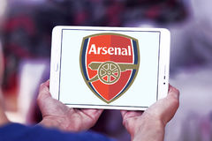 Arsenal soccer club logo Royalty Free Stock Photos
