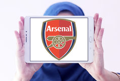 Arsenal soccer club logo Royalty Free Stock Photography