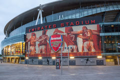 Arsenal Stadium. LONDON – JULY 31: Emirates Stadium on July 31, 2013. Ashburton Grove, known for sponsorship reasons as the Emirates Stadium or simply The royalty free stock photography
