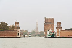 Arsenal Tower in Venice Royalty Free Stock Image