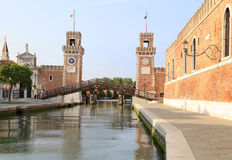 Arsenal Towers in Venice Stock Photo