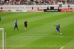 Arsenal Friendly Training Helsinki. Olivier Giroud Shooting Stock Photos