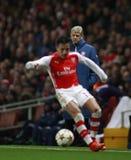 Arsenal v Anderlecht de la liga de campeones de UEFA foto de archivo libre de regalías