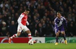 Arsenal v Anderlecht de la liga de campeones de UEFA fotografía de archivo libre de regalías