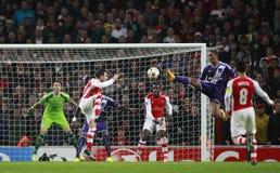 Arsenal v Anderlecht de ligue de champions d'UEFA Photographie stock