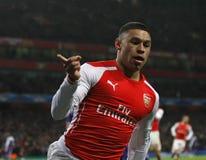 Arsenal V Anderlecht för liga för UEFA-mästare Royaltyfria Bilder