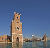 Arsenal of Venice, Powder House and entrance control tower Royalty Free Stock Photography