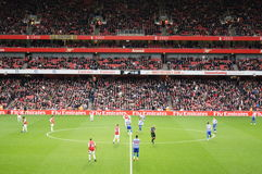 Arsenal Winning 1-0 to Queen Park Rangers. At home in the Emirates Stadium, London, England on 31st December 2011 Stock Photography