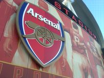 Arsenal-Zeichen Stockfotografie