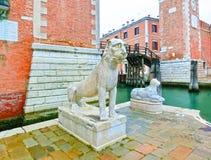 arsenale είσοδος Ιταλία Βενετία Ιταλία Βενετία Στοκ φωτογραφίες με δικαίωμα ελεύθερης χρήσης