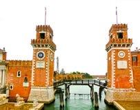 arsenale είσοδος Ιταλία Βενετία Ιταλία Βενετία Στοκ Εικόνες