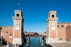 Arsenale της Βενετίας - της Ιταλίας Στοκ Φωτογραφία