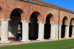 Arsenale columns in Venice Stock Photography