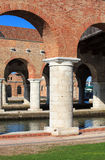 Arsenale columns in Venice Royalty Free Stock Photography