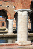 Arsenale columns in Venice Stock Image