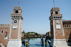 Arsenale in Venice Italy Stock Image