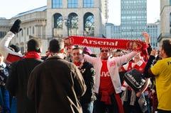 Arsenalfußbalgebläse in Mailand Lizenzfreies Stockbild