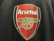 Arsenallogo Stockfotografie