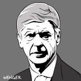 Arsene Wenger stock de ilustración