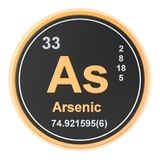 Arsenic As chemical element. 3D rendering. Isolated on white background vector illustration