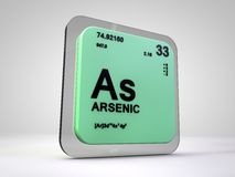 Arsenic- As - chemical element periodic table. 3d render Royalty Free Stock Photo