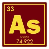 Arsenic chemical element. Periodic table science symbol stock illustration