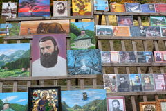 Arsenie Boca - books, paintings and icons. Exposed in Romania Royalty Free Stock Images