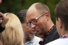 Arseniij Yatseniuk at a rally Royalty Free Stock Image