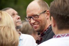 Arseniij Yatseniuk at a rally Stock Photos